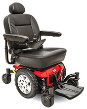 The Jazzy® 600 ES provides excellent performance and outstanding stability. Its compact design and standard Active-Trac® ATX Suspension allow it to excel indoors and out, making it a superb, all-around power chair choice.