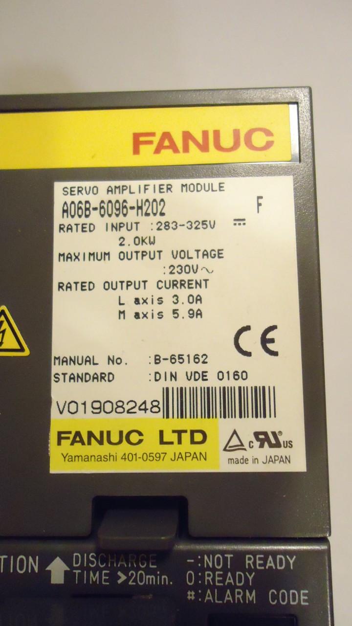 Ge Fanuc Robotics A06b 6096 H202 F Servo Amplifier Module 230v Input Wiring Diagram Larger More Photos