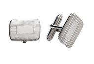 Sterling Silver Engine Turn Cuff Links