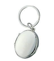 Oval Locket Key Ring
