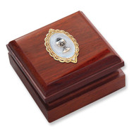 Rose Stain Communion Keepsake Box