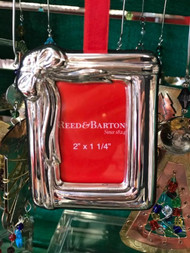 Sterling Silver Ribbon Frame Ornament by Reed & Barton