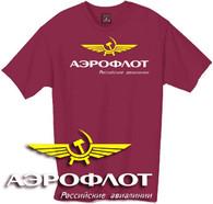 Aeroflot t shirt, Russian airline tshirt