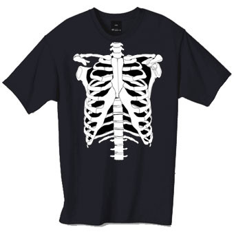 skeleton tshirt, perfect for Halloween