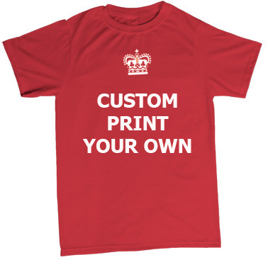 keep calm custom print t shirt