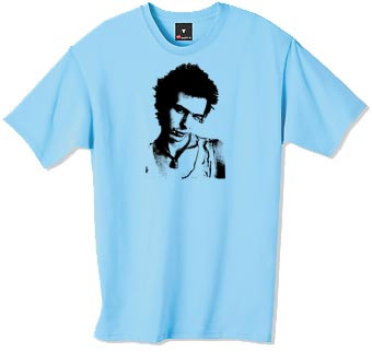 Sid Vicious portrait t-shirt.  Sid Vicious was an English musician best known as the bassist of the influential punk rock group Sex Pistols. In 2006 he was inducted posthumously into the Rock and Roll Hall of Fame as a member of the Sex Pistols.