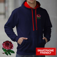 England Rugby hoodie AWD smartphone friendly English hooded sweatshirt