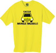 Minge mobile tshirt from the TV series the Inbetweeners.