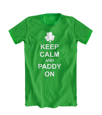 St Patrick's day Keep calm and paddy on tshirt, fancy dress top