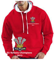 Wales Six Nations Champions 2013 Rugby hoodie