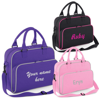 Personalised Girls Ballet Dance Gymnastics Bag All Colours