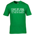 364 days of fun Christmas t shirt in bright green