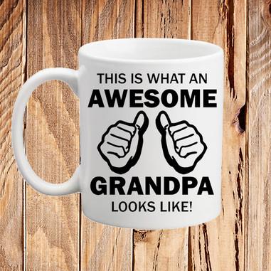 This is What an Awesome Grandpa Looks Like Coffee Mug Funny Gift Idea Grandad