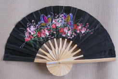 Black Hand Fans, assorted paintings, package of 10