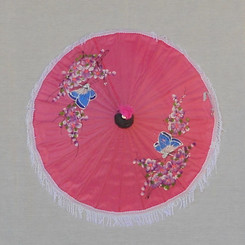 Children's pink parasol, MBR 2 (assorted paintings)