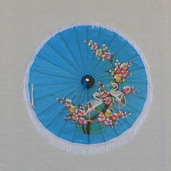 Children's blue parasol, MBR 3 (assorted paintings)