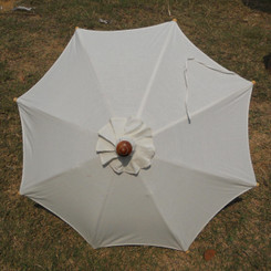 Hand held market umbrella, natural color