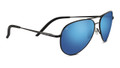 Serengeti Carrara Satin Black Blue 555 Polarized