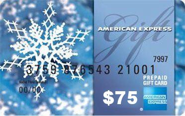 $75 Amex Gift Card