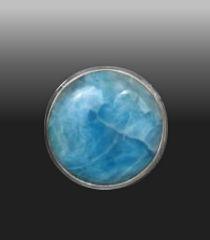 Round Larimar Stone
