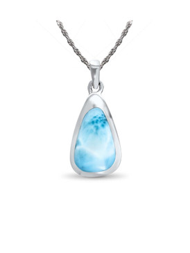 MarahLago Cheyenne Collection Larimar Inlay Necklace - Rope Chain as of Dec2019