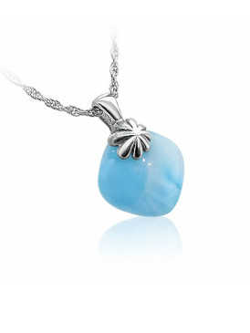 MarahLago Abril Collection Larimar Necklace