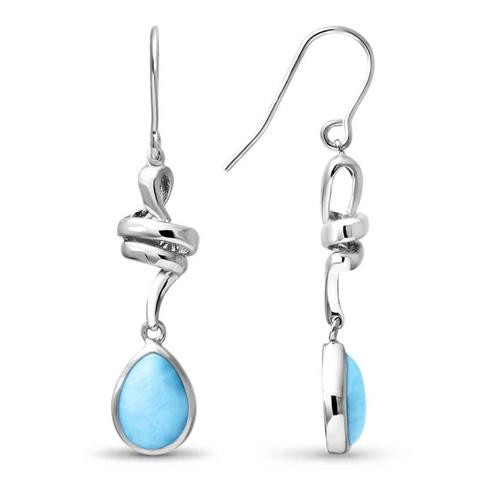 MarahLago Hydra Larimar Earrings - profile