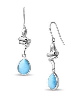 MarahLago Hydra Larimar Earrings - 3x4