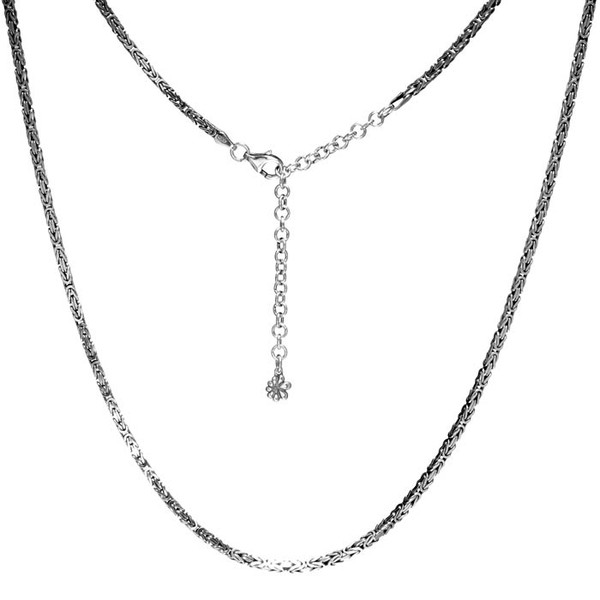 MarahLago Sterling Silver Adjustable Byzantine Chain