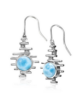MarahLago Shikari Larimar Earrings, White Sapphire