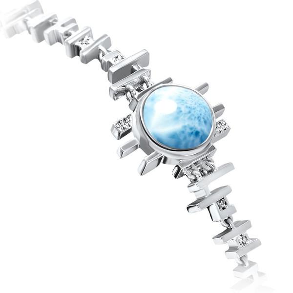 MarahLago Shikari Larimar Bracelet with White Sapphire