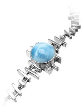 MarahLago Shikari Larimar Bracelet with White Sapphire - 3x4