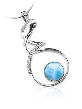 MarahLago Dante Collection Larimar Necklace