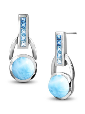 MarahLago Aqua Collection Larimar Earrings - 3x4