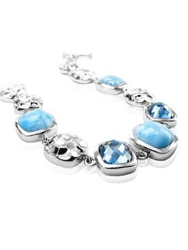 MarahLago Faceta Larimar Bracelet with Blue Topaz