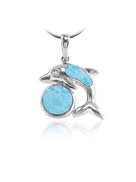 MarahLago Marine Life Collection Larimar Dolphin Pendant