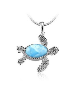 MarahLago Larimar Turtle Necklace