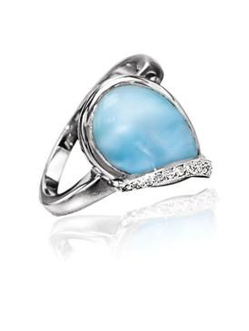 MarahLago Daria Larimar Ring White Sapphire