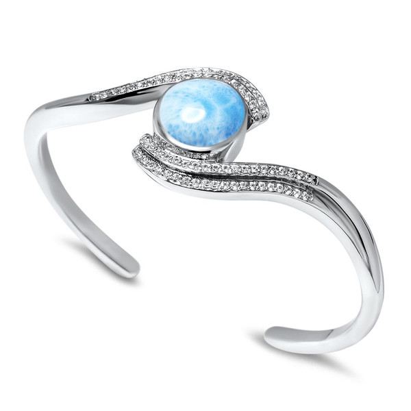 MarahLago Adella Larimar Bracelet with White Sapphires
