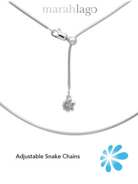 MarahLago Sterling Silver Adjustable Snake Chains