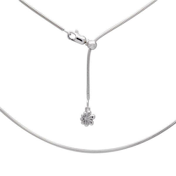 """MarahLago Sterling Silver Snake Chain - Adjustable up to 21"""""""