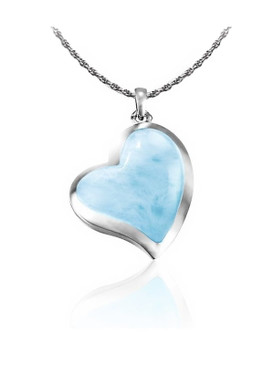 MarahLago Floating Heart Larimar Pendant or Necklace
