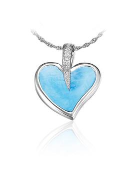 MarahLago Pezullio's Larimar Heart Pendant