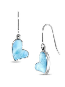 MarahLago Heart Collection Larimar Earrings - 3x4