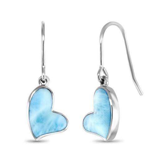 MarahLago Heart Collection Larimar Earrings