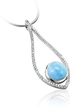 MarahLago Alto Collection Larimar Necklace