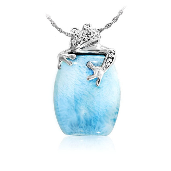 MarahLago Wildlife Collection Larimar Tree Frog Pendant