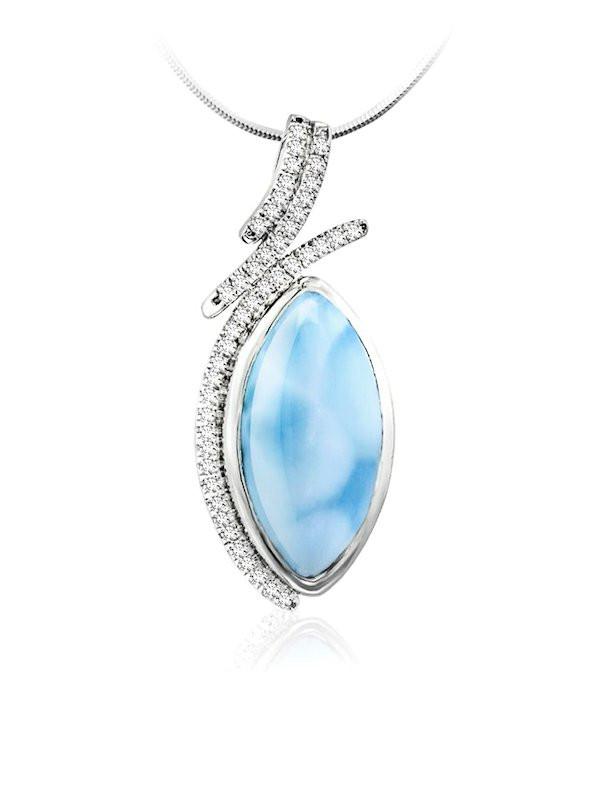 MarahLago Vista Collection Larimar Pendant/Necklace with ...