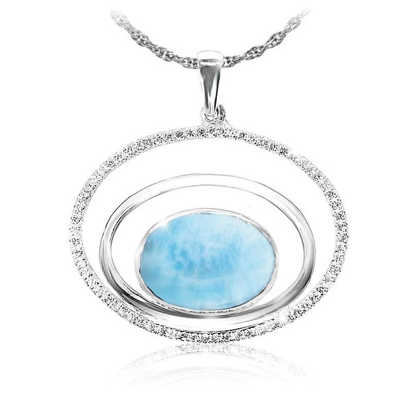 MarahLago Eclipse Larimar Necklace