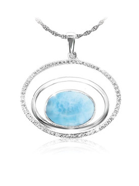 MarahLago Eclipse Collection Larimar Necklace